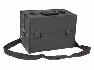 Alu transport gereedschapskoffer zwart
