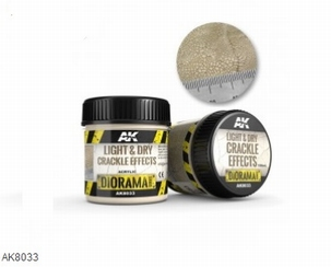 AK Light & Dry Crackle Effects 100ml.