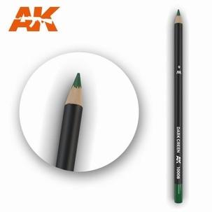 AK10008 Dark Green Weathering Pencil