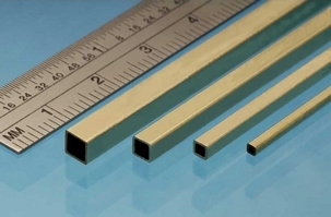 Albion Square Brass Tube 4,76mm x 4,76mm x 3,96mm