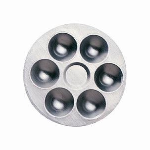 Aluminium Mengschaal Rond 11cm.