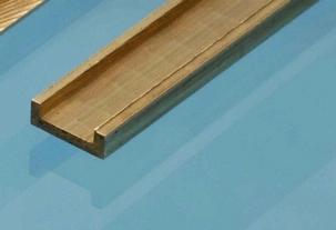 Albion Brass C Channel 1mm x 3mm x 1mm