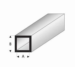 Buisprofiel vierkant A=2mm   B=4mm