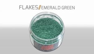 Custom Creative Flake Emerald Green