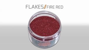 Custom Creative Flake Fire Red