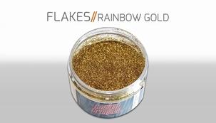 Custom Creative Flake Rainbow gold
