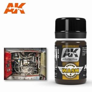 AK Enamel Aircraft Engine Wash