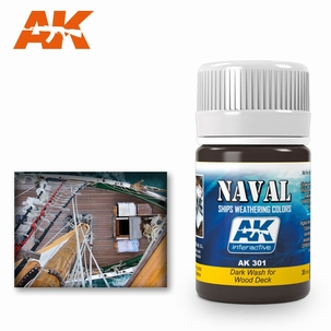AK Enamel wash For Wood decks