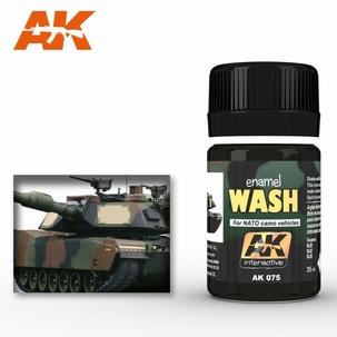 AK Enamel Wash For Nato Tanks