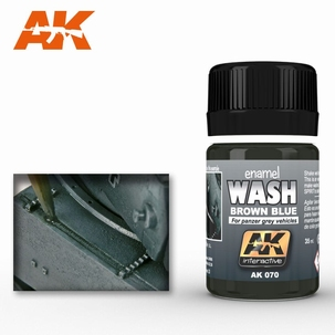 AK Enamel wash For Panzer Grey