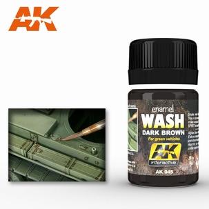 AK Enamel Brown wash For Green Vehicles