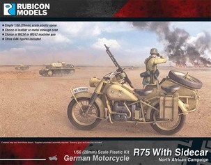 280052- German Motorcycle R75 with Sidecar (DAK)