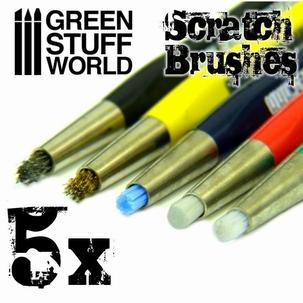 5 x Scratch Brush Pens