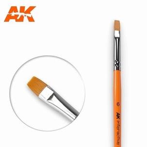 AK Flat Synthetic Brush 6