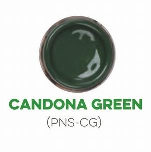 Custom Creative Pinstripe Enamel Candona Green