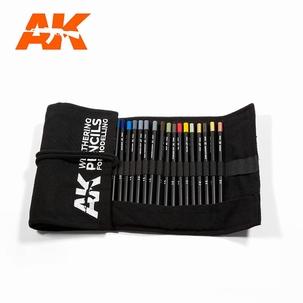AK Weathering Pencils Full Range Case