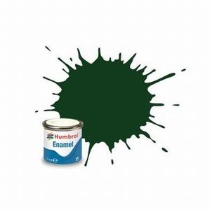 3 Humbrol enamel 14ml. Brunswick green 3