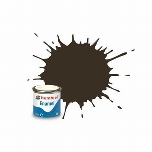 10 Humbrol enamel 14ml. service brown 10