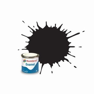 33 Humbrol enamel 14ml. Matt black 33