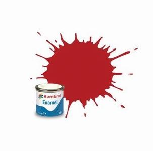 153 Humbrol enamel 14ml. Insignia red 153