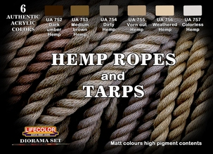 Diorama set Hemp Ropes and Tarps