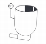 Gravity Side Cup 1/2 Oz HP-/TR2