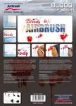 Step By Step Stencil Blood Splash