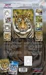 Step By Step Stencil Tiger Wildlife