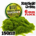 GSW Static Grass Flock Realistic Green 6mm.