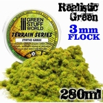 GSW Static Grass Flock Realistic Green 3mm.
