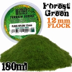 GSW Static Grass Flock Forest Green 12mm.