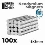 GSW Neodymium Magnets 5x2mm
