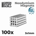 GSW Neodymium Magnets 3x1mm