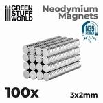 GSW Neodymium Magnets 3x2mm