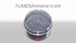 Custom Creative Flake Rainbow Silver