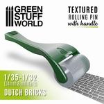 GSW Handle Rolling Pin Dutch Bricks
