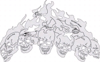 Artool Hot Headz Hell Riders by Mike Lavallee's