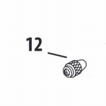 Needle Chucking nut HP AR/BR/CR/BCR/SAR