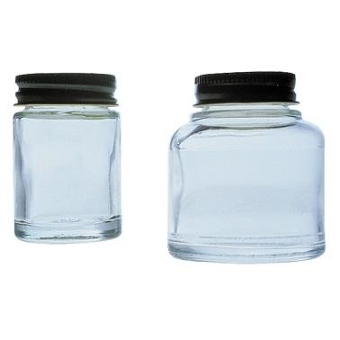 Lege flesjes en potjes
